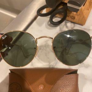 Rayban 3447 Round Gold Sunglasses 53mm